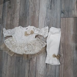 Little lass baby Dress with under pants